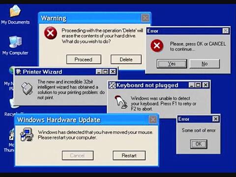 Ошибки в работе компьютера